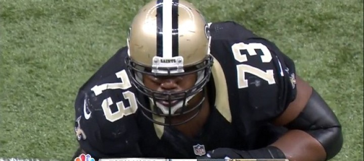 GIF Study: <strike>Mark Ingram's</strike> Jahri Evans' Big Night